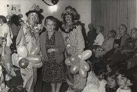 Clowns and Mrs. Cohen at Louis Brier Home