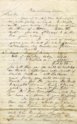 [Power of Attorney and letter from Abraham Blackman to Morris Blackman]