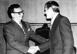 'Fifty-three leaders', two men shaking hands