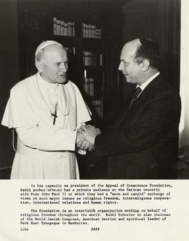 Rabbi Arthur Schneier and Pope John Paul II at the Vatican