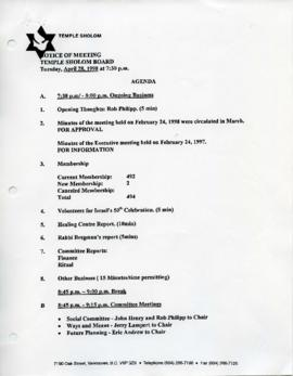 Minutes for Board Meeting, April 28, 1998