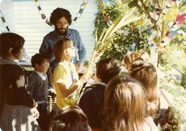 Succot Party Oct. 2, 1977 - Held at Bill and Shirley Gluck's home, Service led by Robbi Daniel Siegal