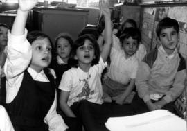 Hebrew Academy grades 1&2 answering questions from a story