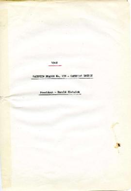 [Executive Meeting Minutes] 1948 - Fairview Branch No. 178 - Canadian Legion - President - Harold...