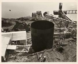 Collector silo, Texada Mine, Texada Island, British Columbia