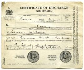 Certificate of Discharge - September 5, 1918