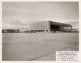 Trans-Canada Air Lines Maintenance Base, course of construction, Vancouver International Airport,...