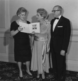 Mrs. Lil Shapiro and two other unidentified persons, Jewish National Fund event