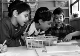 """We three"" at kindergarten Hebrew Academy"
