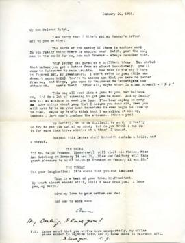 Letter from Ann, January 10, 1933