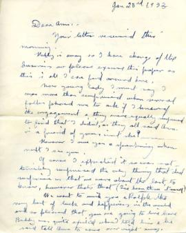 Letter from Rose, January 23, 1933