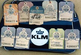 KLM airline baggage tags