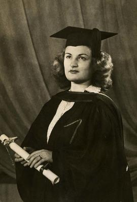 [Phyliss Snider's graduation photo from the University of British Columbia]