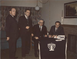Men at B'nai B'rith event, residence