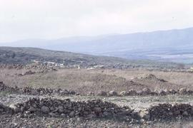 Rocky landscape of Golan Heights