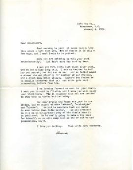 Letter from Ann, January 6, 1932