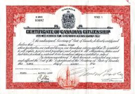 [Certificate of Canadian Citizenship for Samuel Toban]