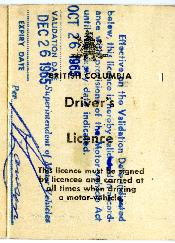 Benjamin Grossman's Driver's License
