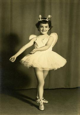 Portrait of [Sandra (Sandy) Sturman] dressed as a ballerina