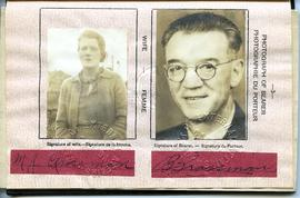 Benjamin Grossman & Margaret Jane Ingram Grossman's Canadian Passport