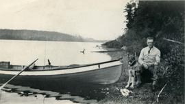 Man & Dog with Boat
